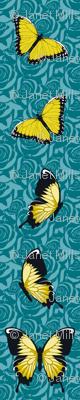 Yellow Butterflies on Blue