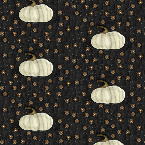 White Pumpkin and Pennies fabric by robin006 on Spoonflower - custom fabric