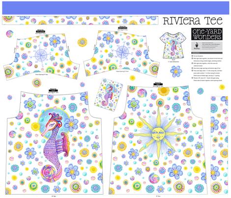 Seahorse riviera tee fabric by dinorahdesign on Spoonflower - custom fabric