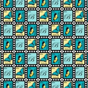 Yellow and Blue Butterfly Stamps