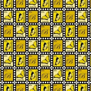 Yellow Butterfly Stamps
