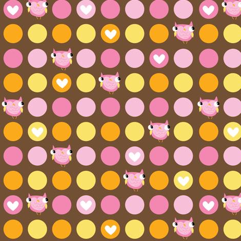 Sweet Owls - Pink fabric by pigandpumpkin on Spoonflower - custom fabric
