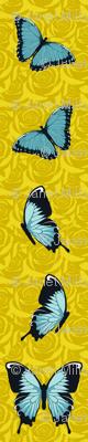Blue Butterflies on Yellow