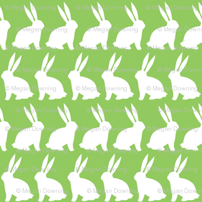 Bunnies on Parade - Green