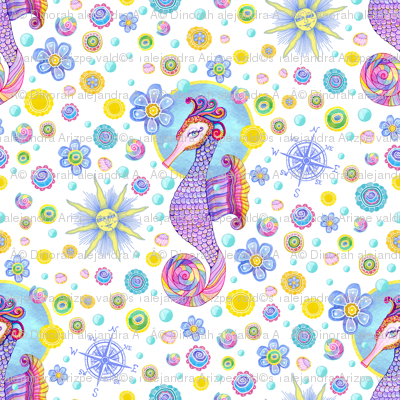 Seahorse pattern