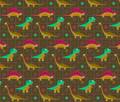 Delightful Dinos fabric by run_quiltgirl_run on Spoonflower - custom fabric