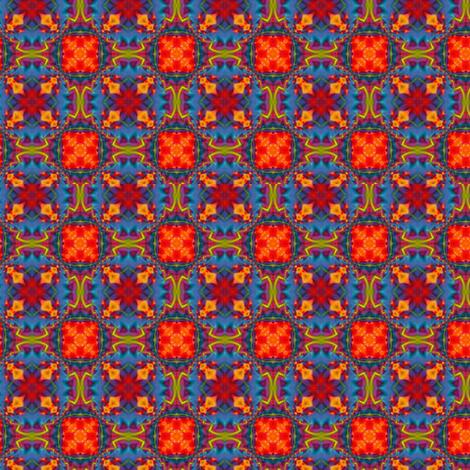 Blue & Orange Hop Scotch fabric by zebralan on Spoonflower - custom fabric