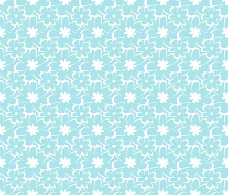 vintage silhouette blue fabric by christiem on Spoonflower - custom fabric