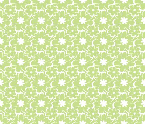 vintage silhouette green fabric by christiem on Spoonflower - custom fabric