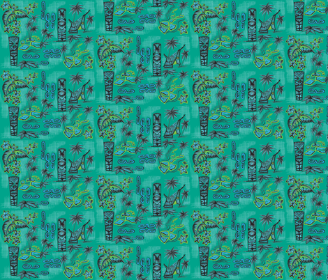 islands of monochromatic in ocean blue fabric by sophista-tiki_by_dawn_frasier on Spoonflower - custom fabric