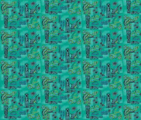 islands of monochromatic in ocean blue fabric by sophista-tiki_by_dawn_frasier on Spoonflower - custom fabric