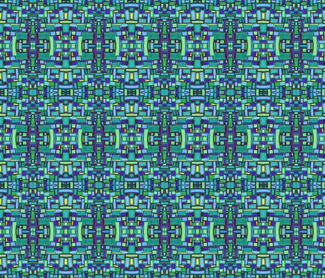 mod tiles in bluegreen fabric by kcs on Spoonflower - custom fabric