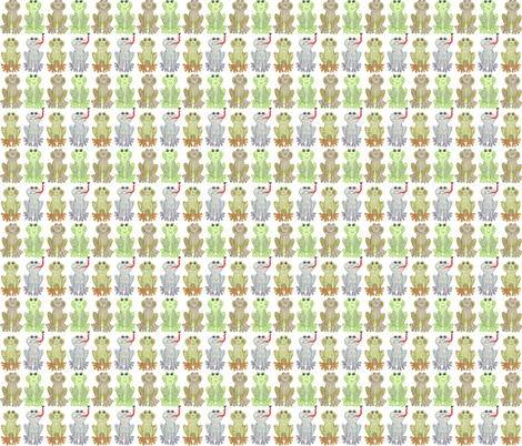 Hippety Hoppety Frogs fabric by kbexquisites on Spoonflower - custom fabric
