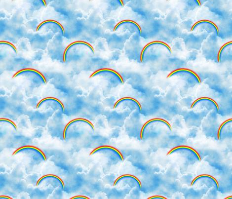 Wizard of Oz - Blue Skies and Rainbows by JoyfulRose fabric by joyfulrose on Spoonflower - custom fabric