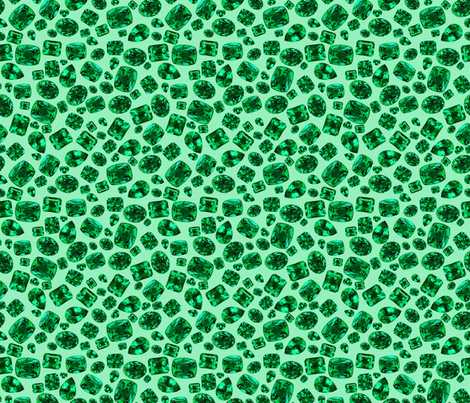 Wizard of Oz - Green Emeralds fabric by joyfulrose on Spoonflower - custom fabric
