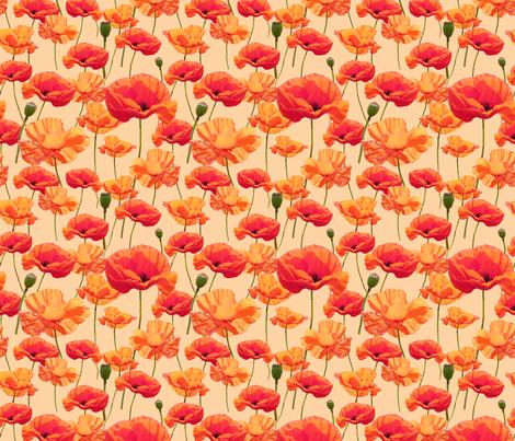 Wizard of Oz - Orange Poppies fabric by joyfulrose on Spoonflower - custom fabric
