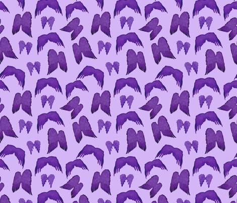 Wizard of Oz - Purple Flying Monkey Wings fabric by joyfulrose on Spoonflower - custom fabric