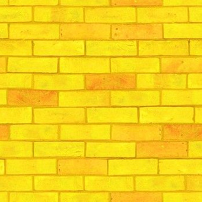 "Wizard of Oz - Yellow Brick Road by JoyfulRose (Each brick is about 1.7"" wide x .6"" tall)"
