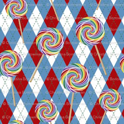 Wizard of Oz - Argyle Lollipop Guild by JoyfulRose