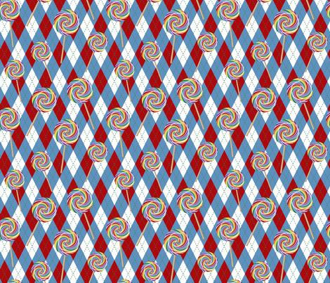 Wizard of Oz - Argyle Lollipop Guild by JoyfulRose fabric by joyfulrose on Spoonflower - custom fabric