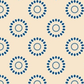 Dotted Flowers- Blue