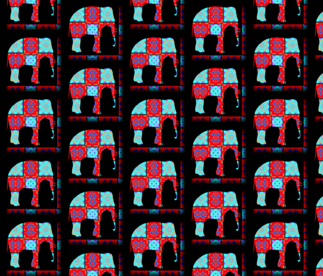 Rockin' Moroccan Elephant fabric by dovetail_designs on Spoonflower - custom fabric