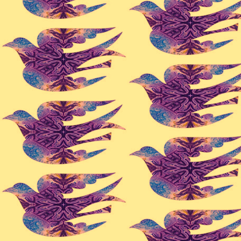 Bird Songs 4 fabric by dovetail_designs on Spoonflower - custom fabric