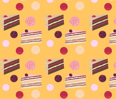 Scrumptious Cakes fabric by lestey on Spoonflower - custom fabric