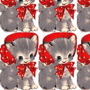 Sweet Kitten in Bonnet
