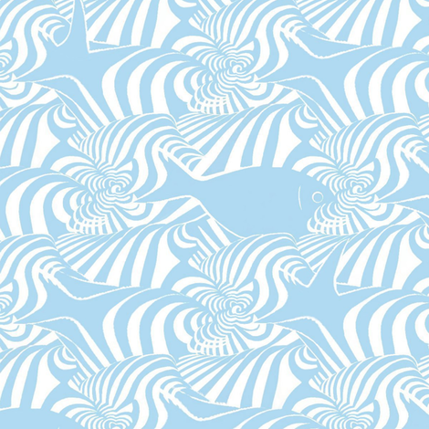 Waves fabric by alfabesi on Spoonflower - custom fabric