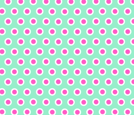 Dotty Turquoise XL fabric by johanna_lange_designs on Spoonflower - custom fabric