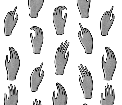 hands fabric by youngcaptive on Spoonflower - custom fabric