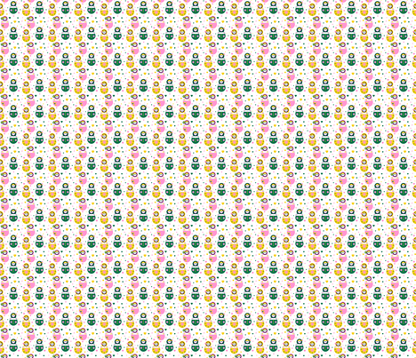 Matriochkas 4 fabric by manureva on Spoonflower - custom fabric