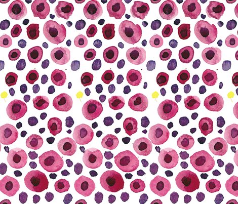 viv_juicy no1 (pomegranate seeds) fabric by cest_la_viv on Spoonflower - custom fabric