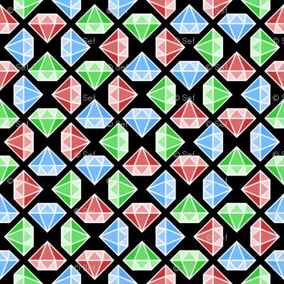 diamante crystals 3 X