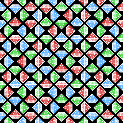 diamante crystals 3 X fabric by sef on Spoonflower - custom fabric