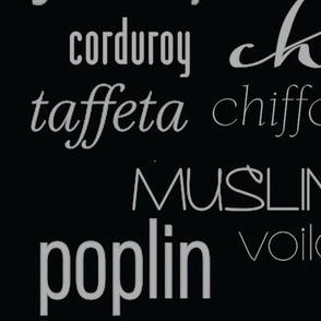fabric names (black)