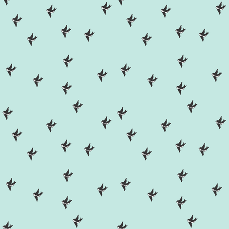 Swallow  fabric by maedchenwahn_illustration on Spoonflower - custom fabric