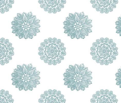 vintage_lace_blue fabric by christiem on Spoonflower - custom fabric