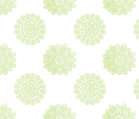 vintage_lace_celery fabric by christiem on Spoonflower - custom fabric