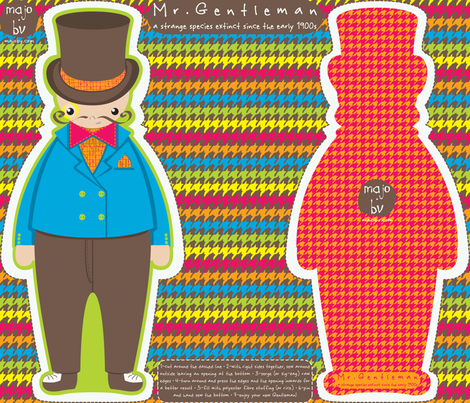 Mr. Gentleman {a strange species extinct since the early 1900s} fabric by majobv on Spoonflower - custom fabric
