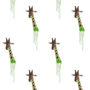 Drippy Giraffe Green