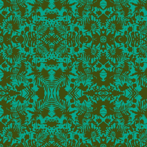 Jungle Damask turquoise