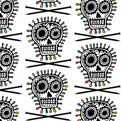Bad Ass Knitting - Larger fabric by andibird on Spoonflower - custom fabric