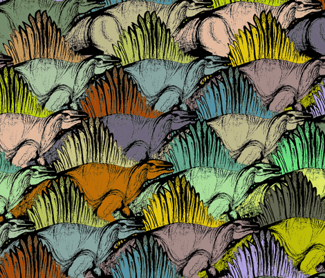 dino fabric by danijov on Spoonflower - custom fabric