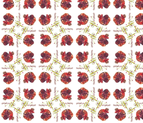 pomegranate passion-fabric fabric by sandrahopf on Spoonflower - custom fabric