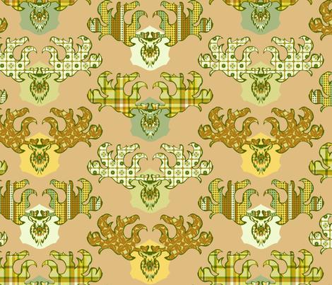 Irish_Elk fabric by spacecowgirl on Spoonflower - custom fabric