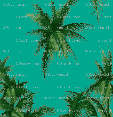 Palm Tree turquoise