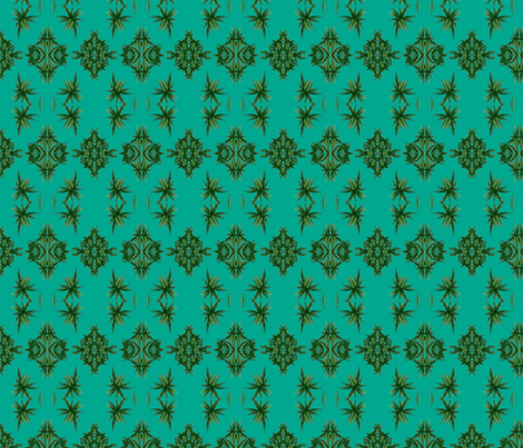 Palm Tree turquoise fabric by flyingfish on Spoonflower - custom fabric