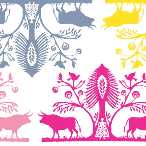 Paper_Aurochs fabric by natasha_k_ on Spoonflower - custom fabric
